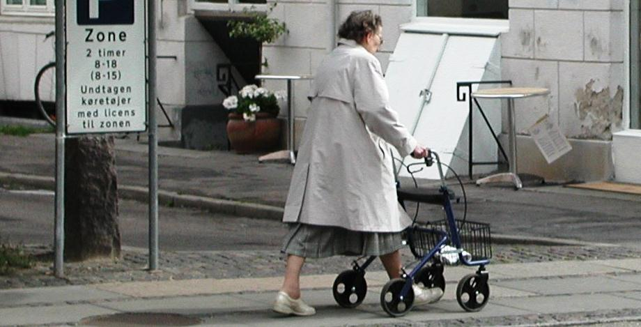 Figur 2.7 Person med rollator.