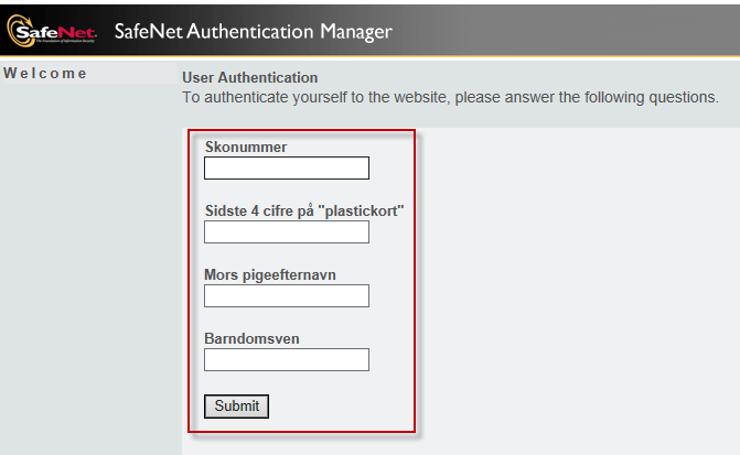 Service Center authentication. Ref.