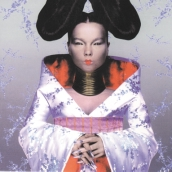 2 01. Bjørk på coveret til pladen Homogenic fra 1999...Thougt I could organize freedom how Scandinavian of me synger hun på pladen.