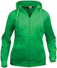 PRIS: XS-XXL: 179,- 3XL-5XL: 199,- 00 605 57 35 95 9 99 CLIQUE BASIC HOODY FULL ZIP LADIES 021035 Slidstærk, lækker dame hætte sweatshirt med