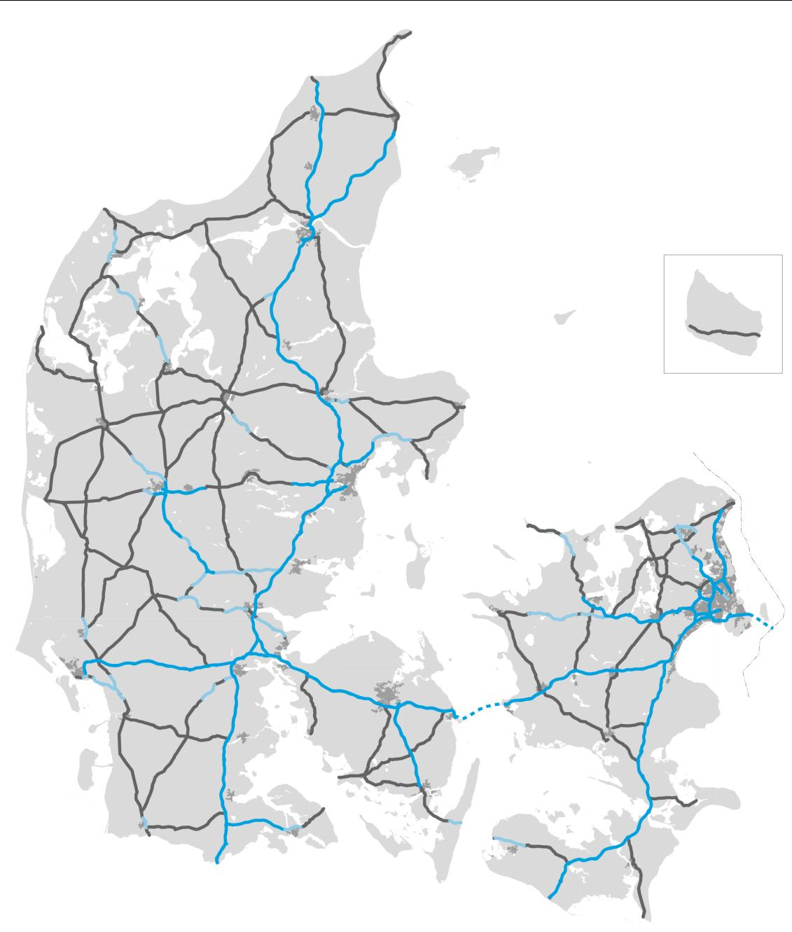 The national road network 3,797km* Consists of 1,167 km of which are motorways