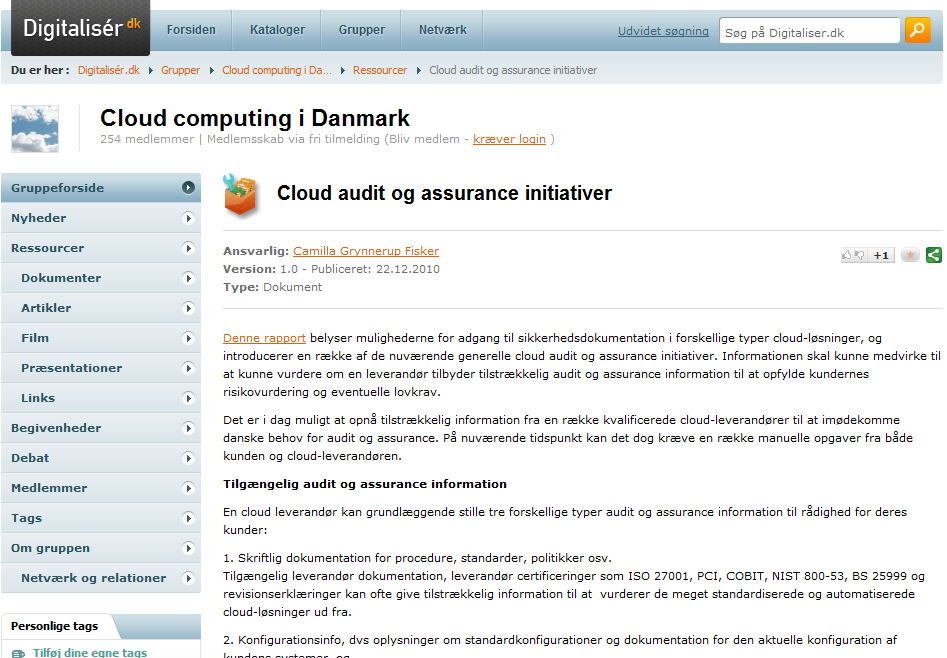 Cloud audit og assurance initiativer