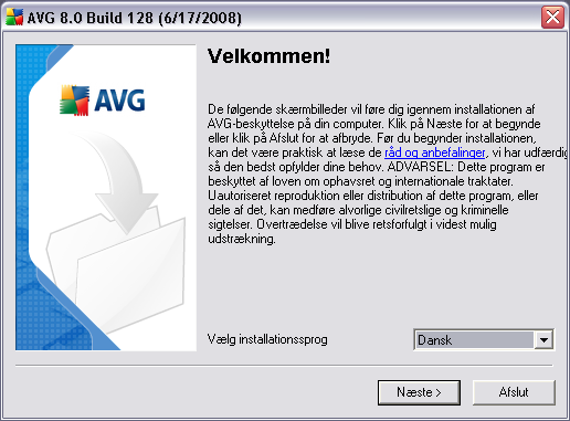 5. AVG Installationsproces For at installere AVG på din computer skal du bruge den nyeste installationsfil.
