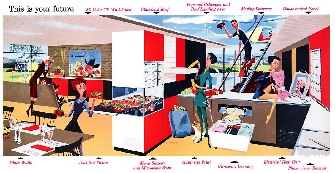 Illustration af Fred Mcnabb, 1956, America