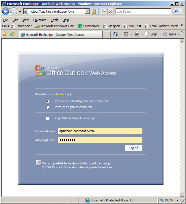 OFFICE OUTLOOK WEB ACCESS (OWA) Open a web browser and go to: https://cas.