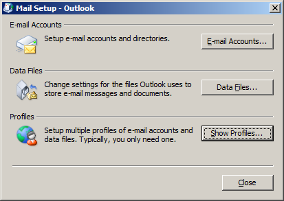 Windows Select and open Mail Click on