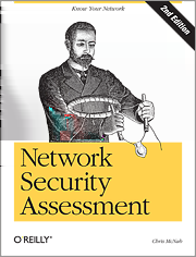 Network Security Assessment Network Security Assessment Know Your Network af Chris McNab, O Reilly Marts 2004 ISBN: 0-596-00611-X