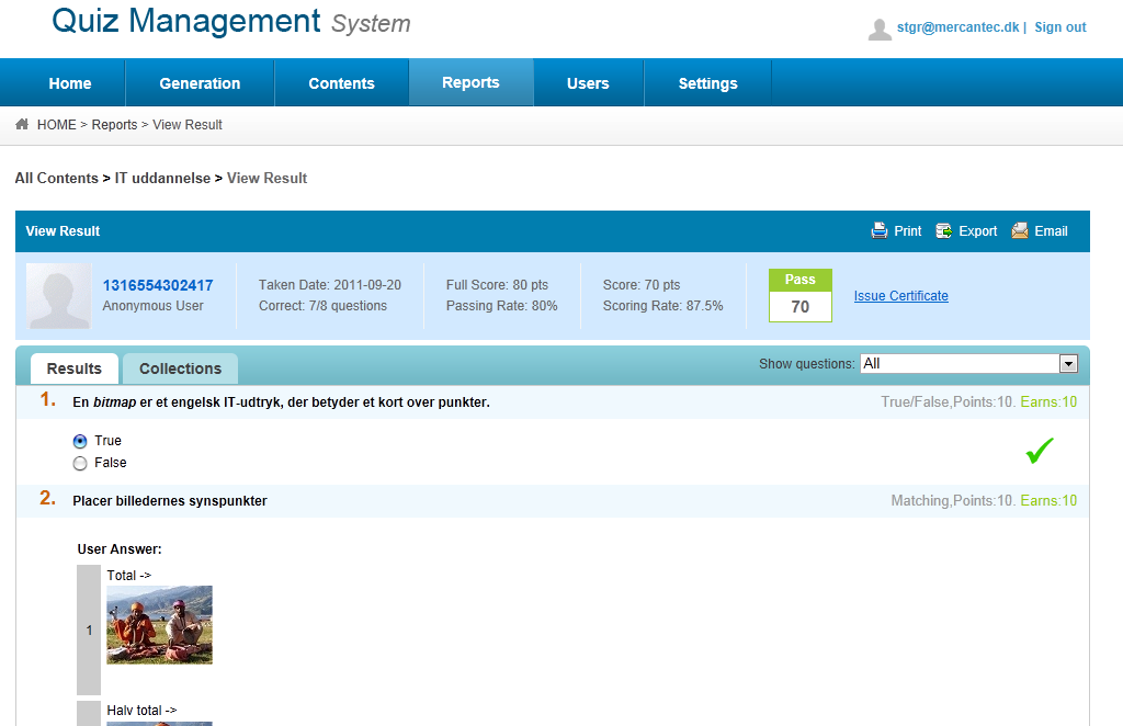 Quiz Management System -