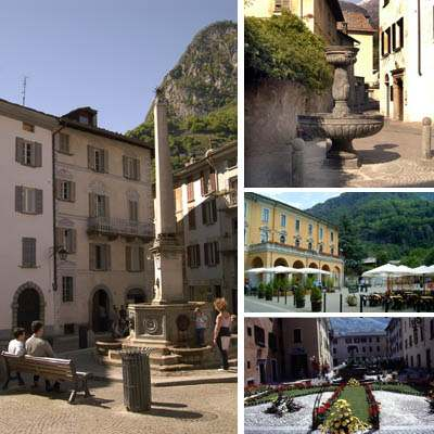 "The present urban settlement of Chiavenna must be traced back to the Middle Ages: ""customs"" in the post-carolingian Italian Kingdom, the town is typified by a grand lay-out which made it an important"