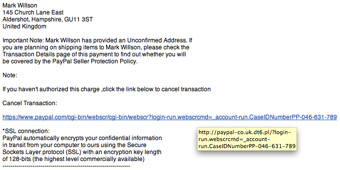 Phishing - Receipt for Your Payment to mark561@bt.