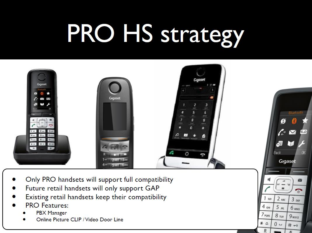 (N510, N720) PRO Features som PBX manager