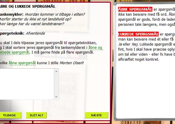 Interaktive assistenter II o o o Computeren stiller