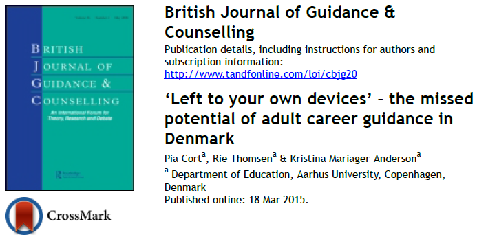 We perceive adult career guidance as an important policy to supplement the policy of lifelong learning insofar guidance can open up the space of possibilities for people through information and