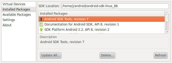Android SDK Se http://developer.android.