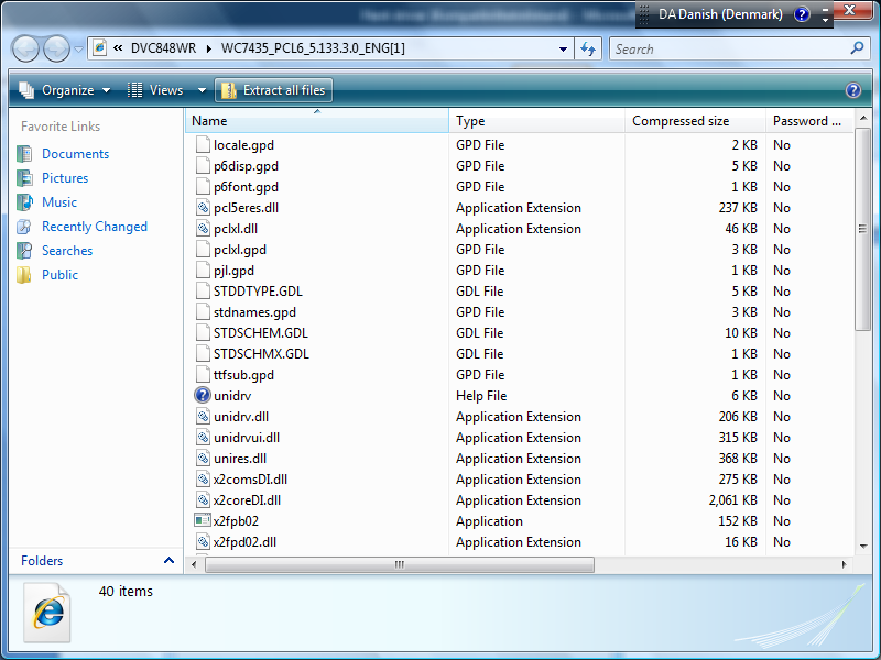 DET KONGELIGE 3. Tryk Extract all files. Figur 6. Extract all files Figur 6.