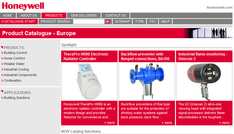 More news on: http://products.ecc.emea.honeywell.