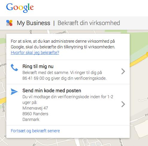 Verificering af Google My Business Profil Kom godt fra start 1.