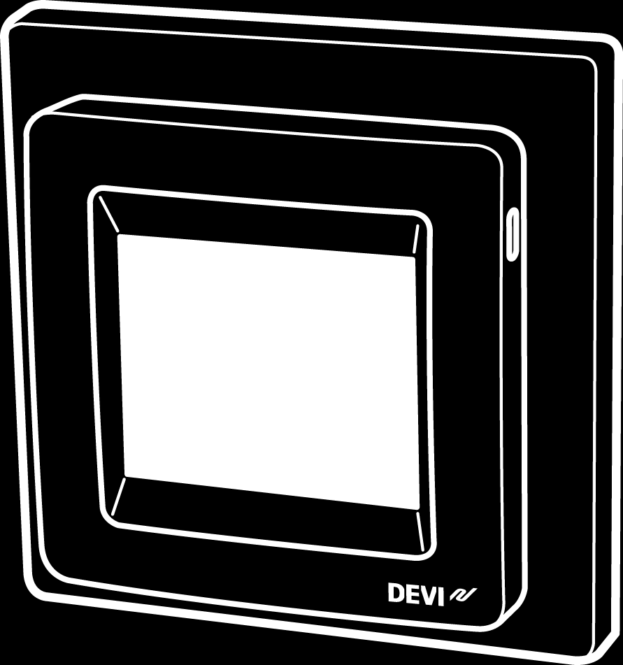 DEVIreg Touch Design Frame 140F1064 Intelligent Timer Thermostat Floor / Room Sensor 220-240V~ 50-60Hz~ 0 to +30 C