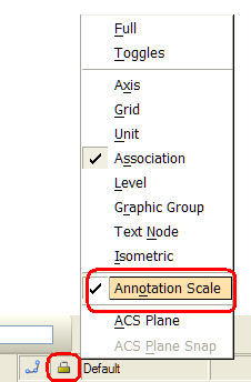 Annotation Scale lock 2010 Bentley