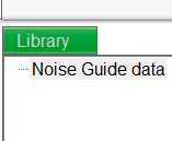 Navigation i softwaren Measurement Library Noise Guide gemmer automatisk alle dine live-målinger på C-drevet i mappen Noise Guide data.