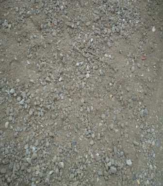 Experimental stalls 6 5 4 3 2 1 2-8 crushed aggregates 2-5 crushed aggregates