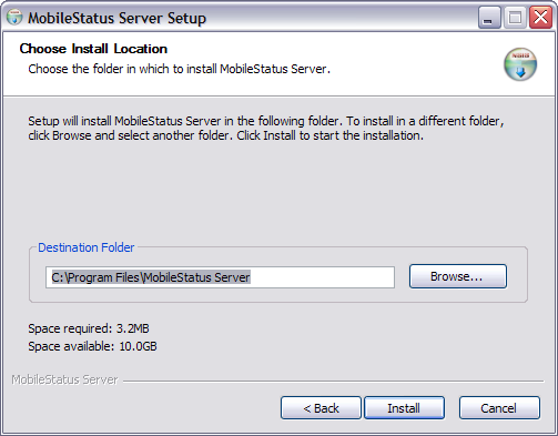 Side 7 af 24 Figur 2.2: MobileStatus Server software licensftale.