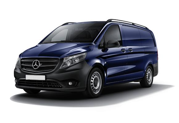 Mercedes Vito 111 Cdi A2 Basic Fleet 114 HK Tempmatic aircon, attention assist, airbags ved fører og passagerer, justerbart rat, ejspejle med varme, sidevindsassist, adaptive ESP i forb.