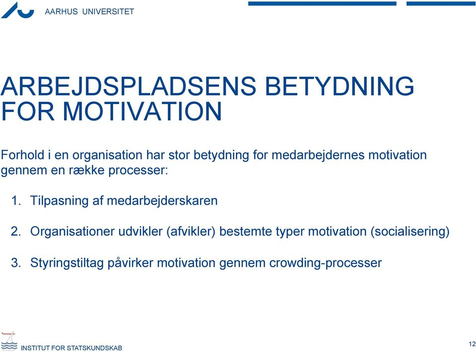 motivation i organisationer Aalborg