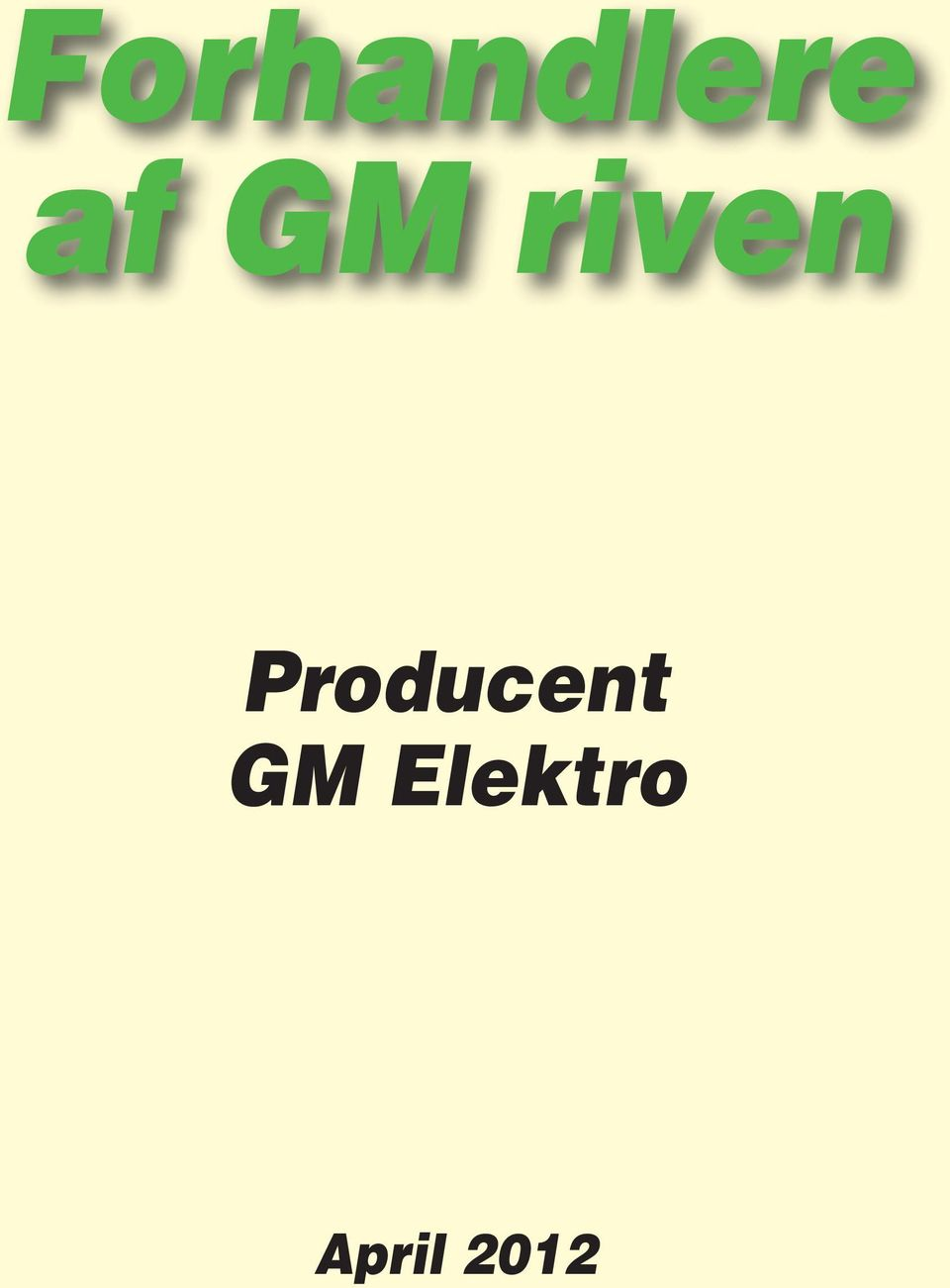 Producent GM