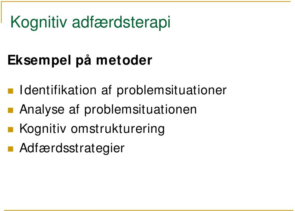 problemsituationer Analyse af