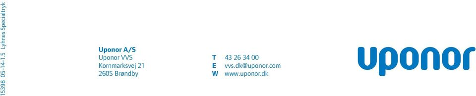 Uponor VVS T 43 26 34