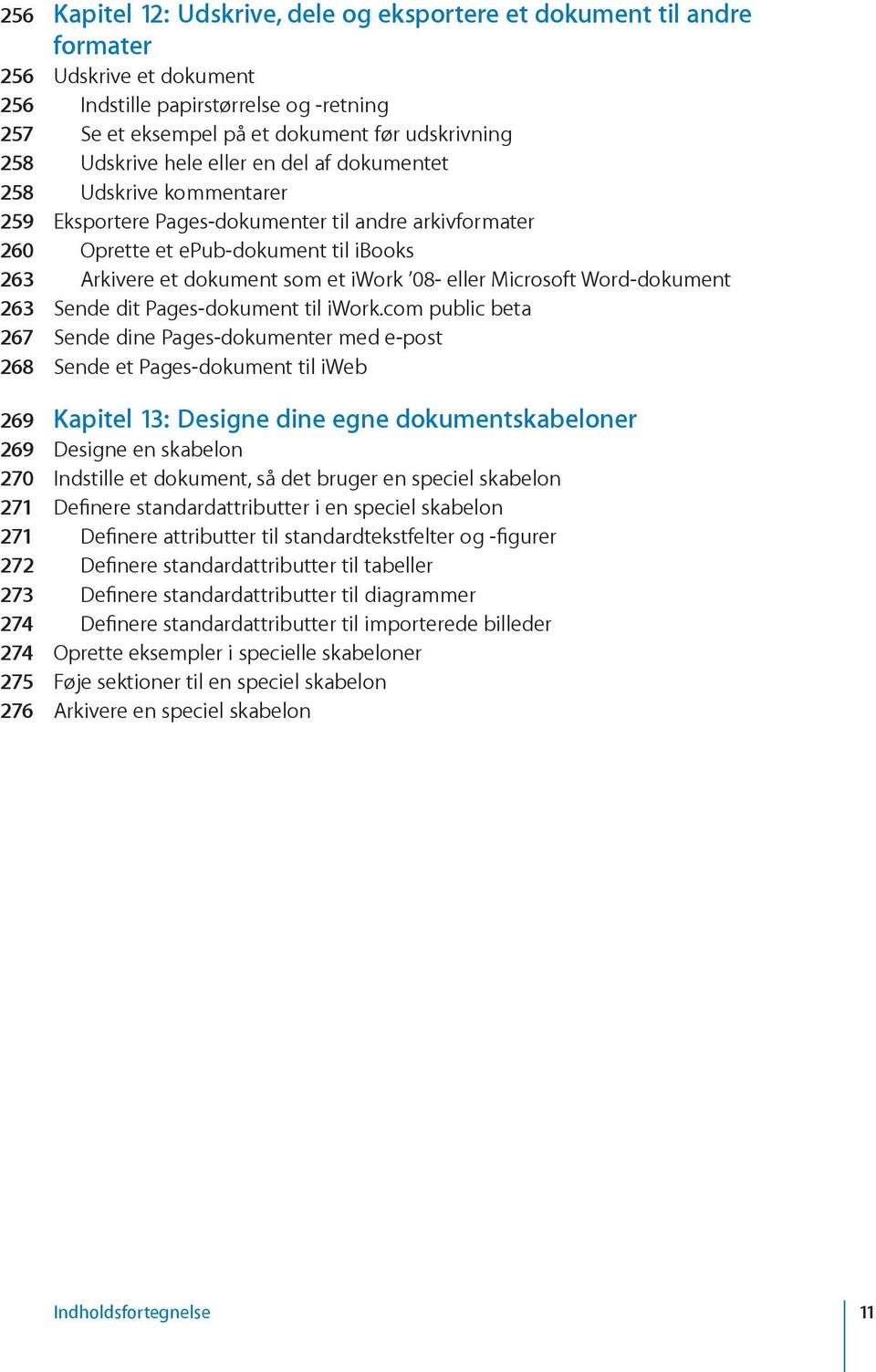 08- eller Microsoft Word-dokument 263 Sende dit Pages-dokument til iwork.