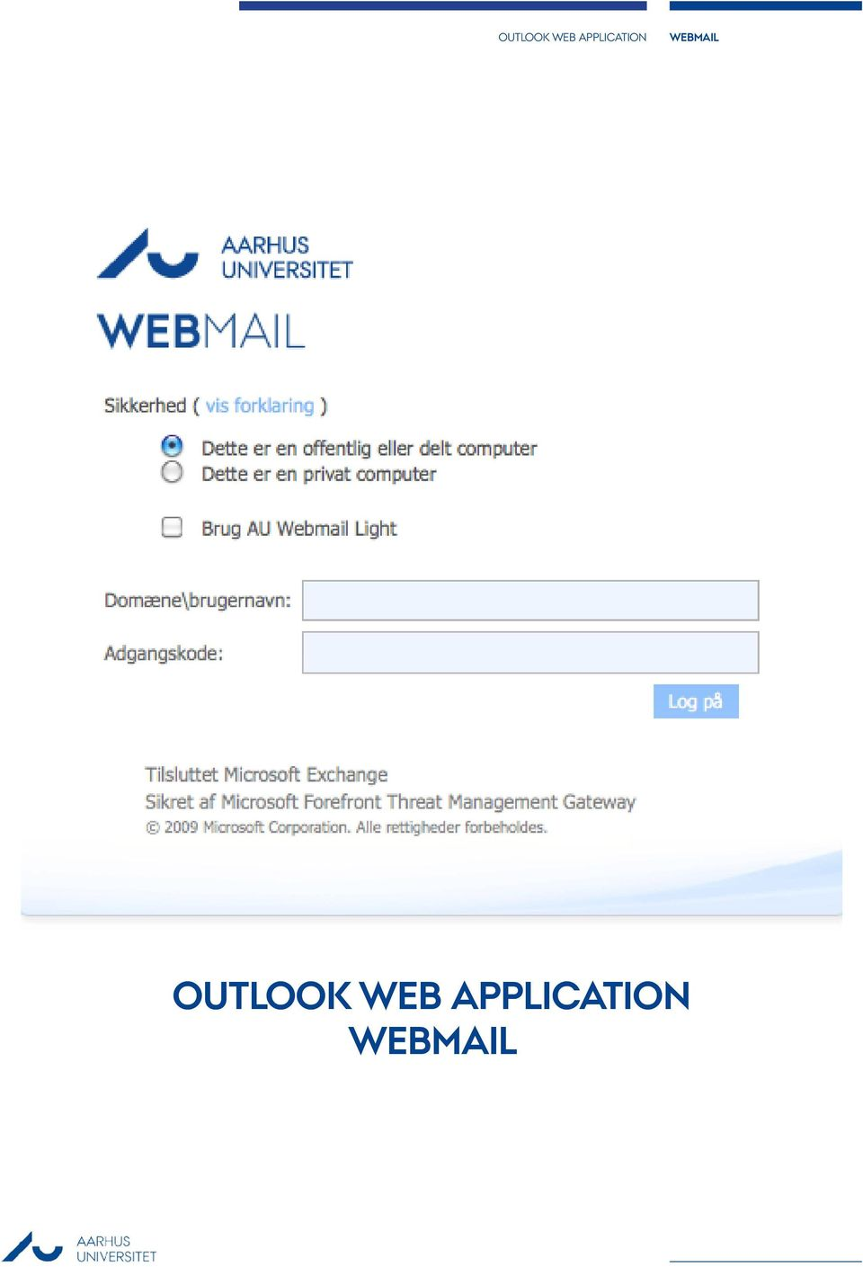 webmail Outlook