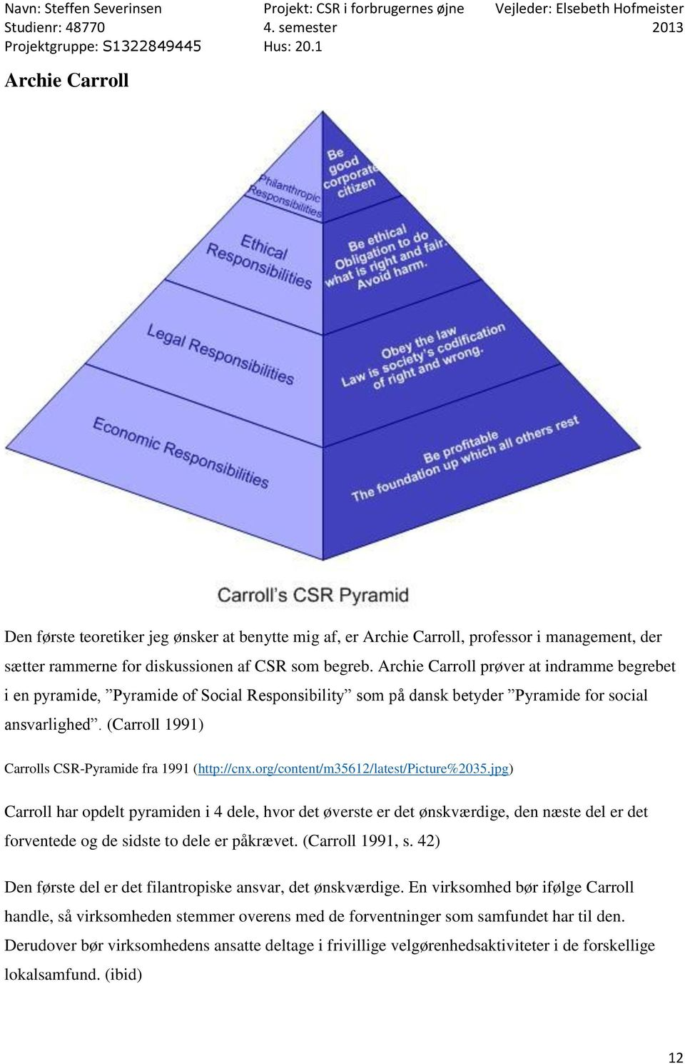(Carroll 1991) Carrolls CSR-Pyramide fra 1991 (http://cnx.org/content/m35612/latest/picture%2035.