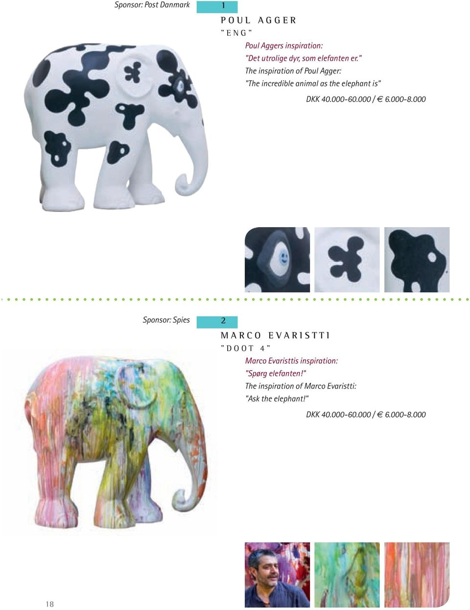 """ The inspiration of Poul Agger: ""The incredible animal as the elephant is"""
