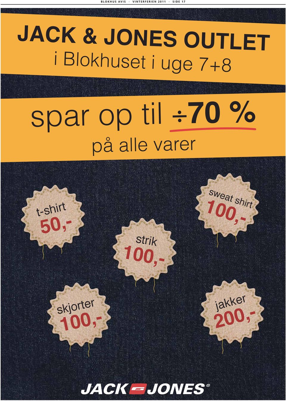 til 70 % på alle varer t-shirt strik sweat