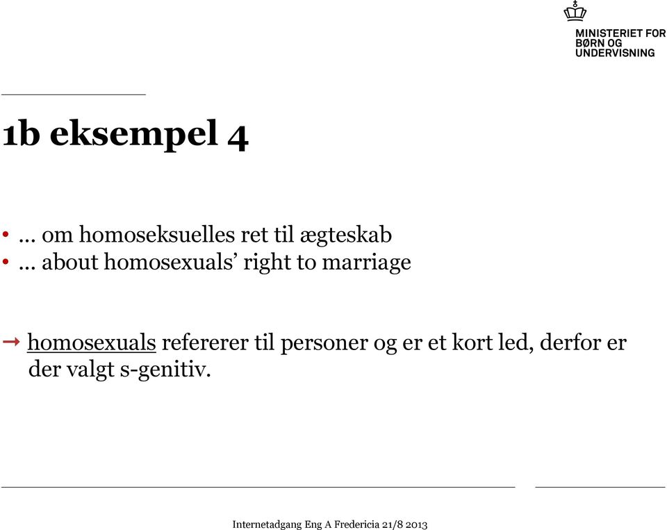 .. about homosexuals right to marriage ""