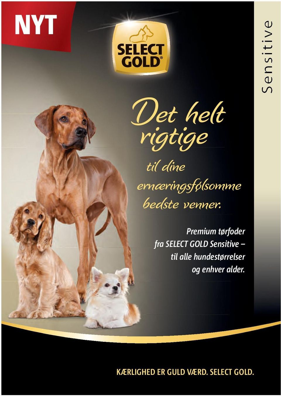 Premium tørfoder fra SELECT GOLD Sensitive