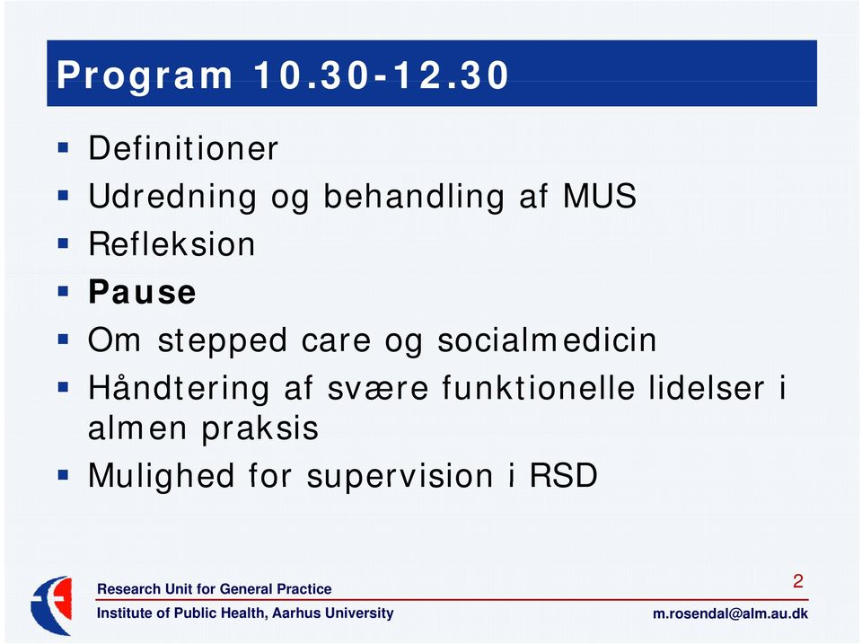 Refleksion Pause Om stepped care og socialmedicin