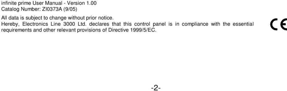 prior notice. Hereby, Electronics Line 3000 Ltd.