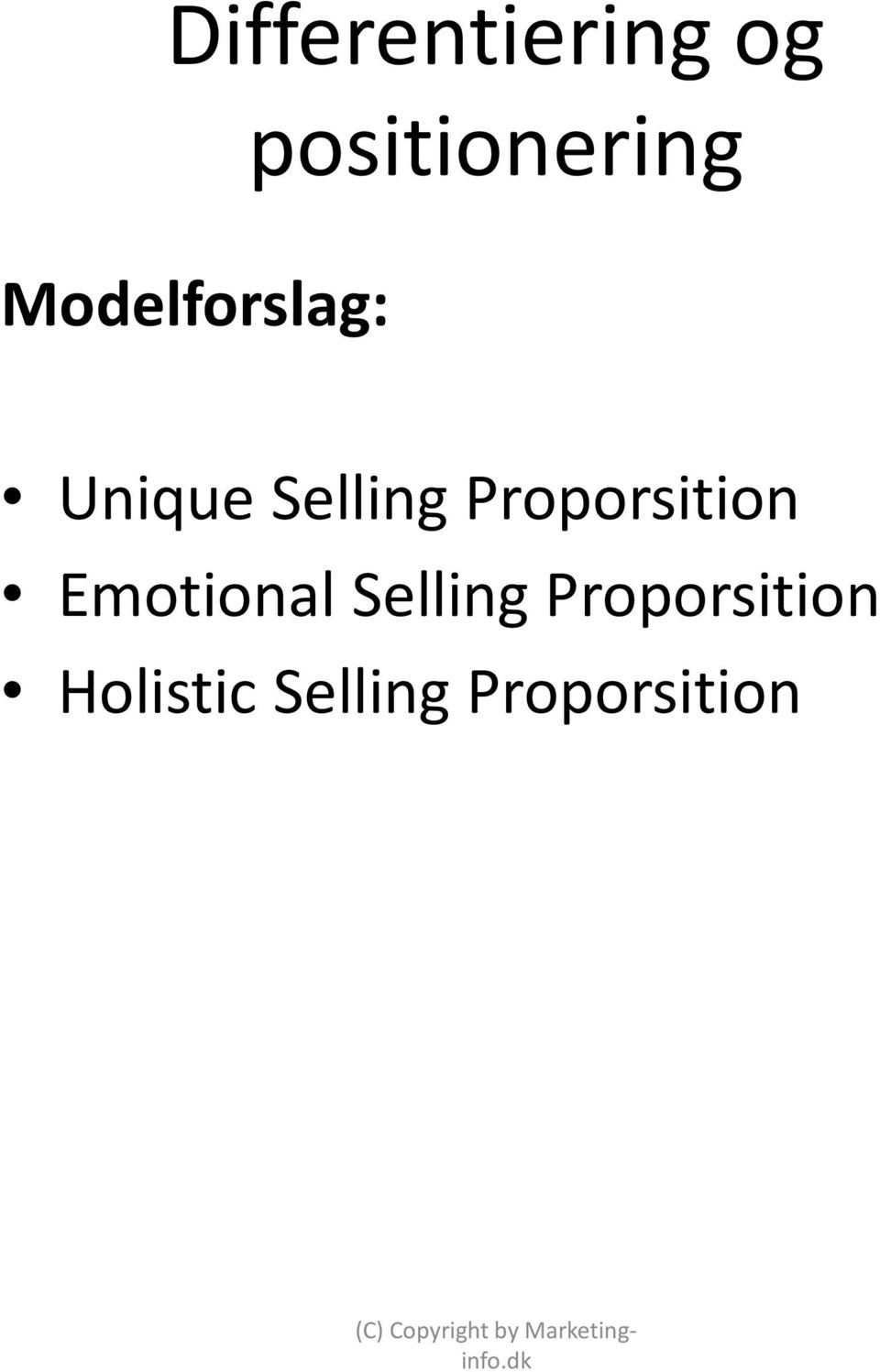 Proporsition Emotional Selling