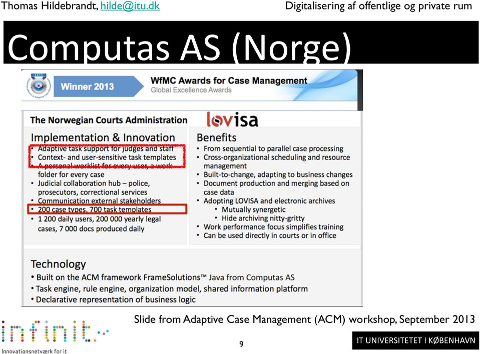 Computas AS (Norge) Slide from Adaptive Case