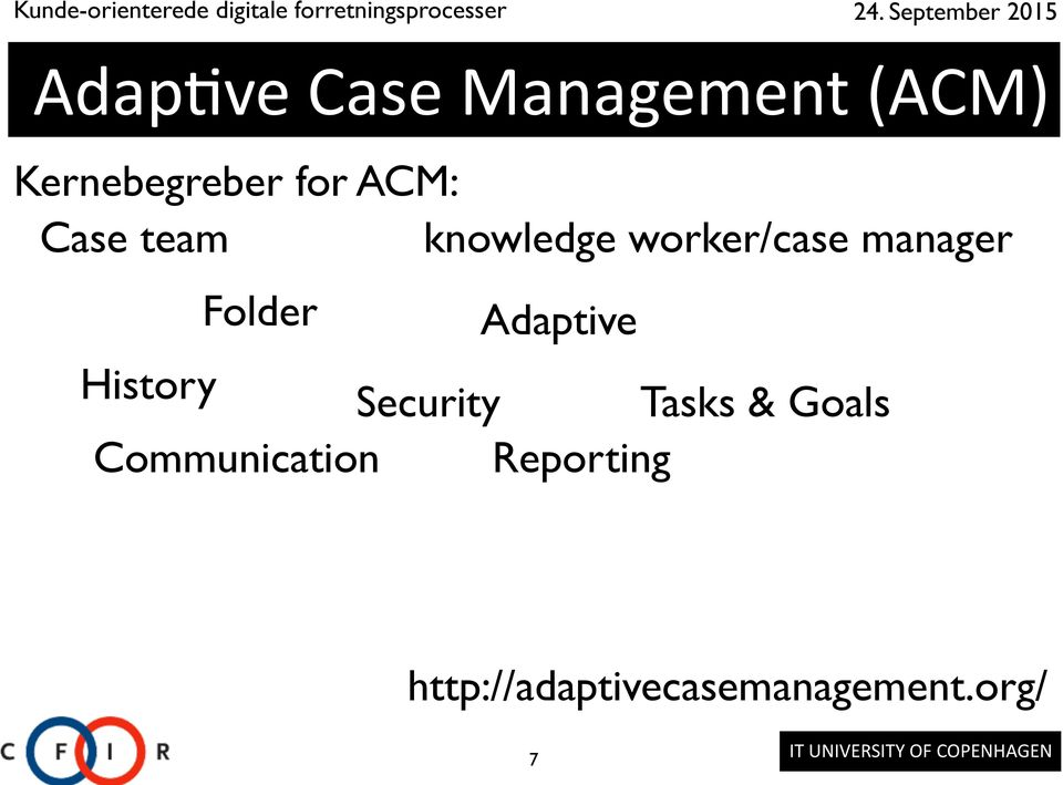 manager Adaptive History Security Tasks & Goals