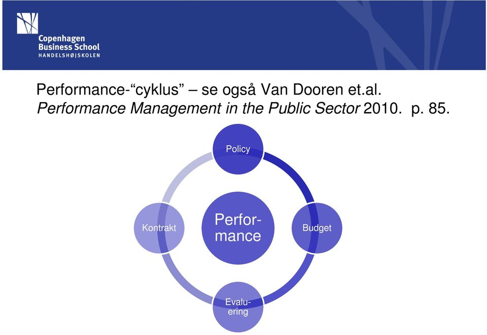 Performance Management in the Public