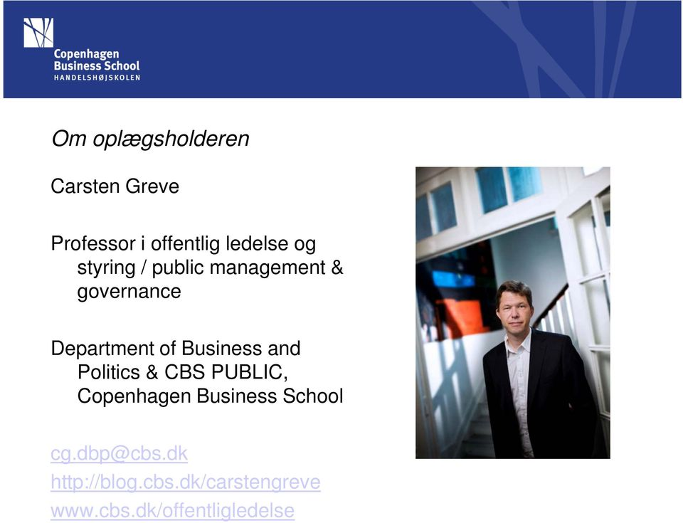 Business and Politics & CBS PUBLIC, Copenhagen Business School
