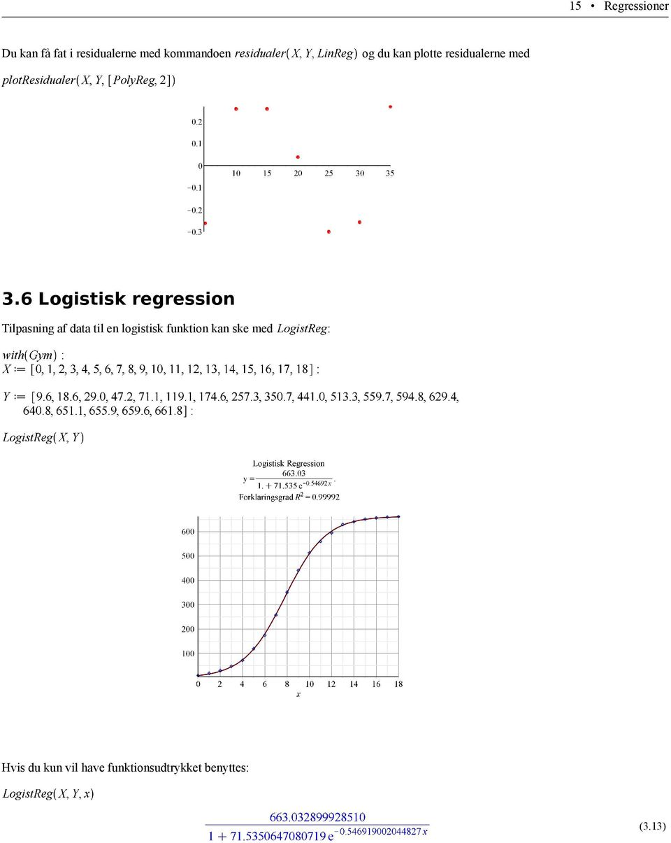 6 Logistisk regression Tilpasning af data til en logistisk