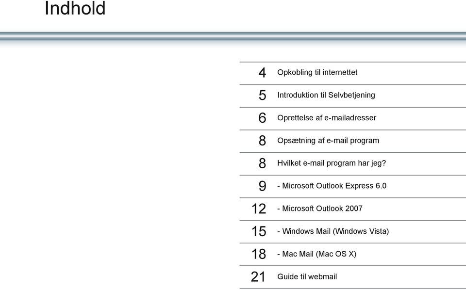 e-mail program har jeg? 9 - Microsoft Outlook Express 6.