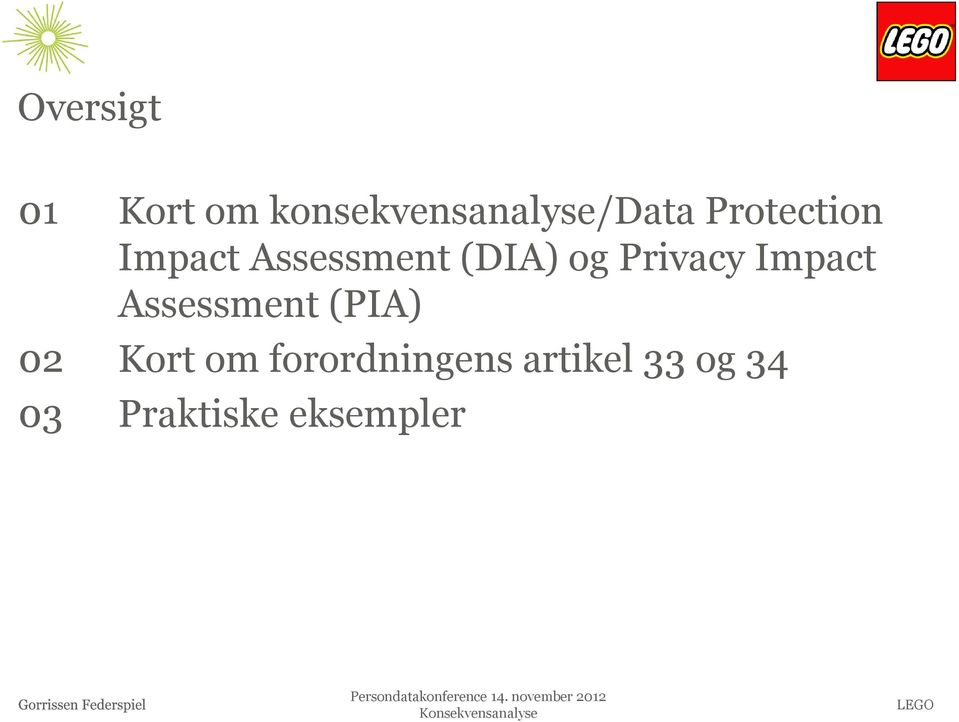 Privacy Impact Assessment (PIA) 02 Kort om