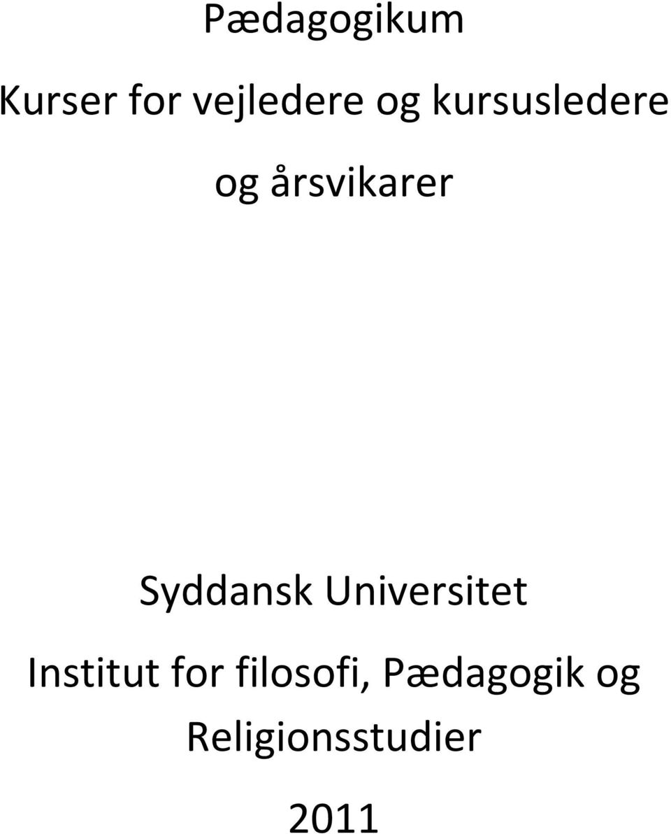 Universitet Institut for filosofi,