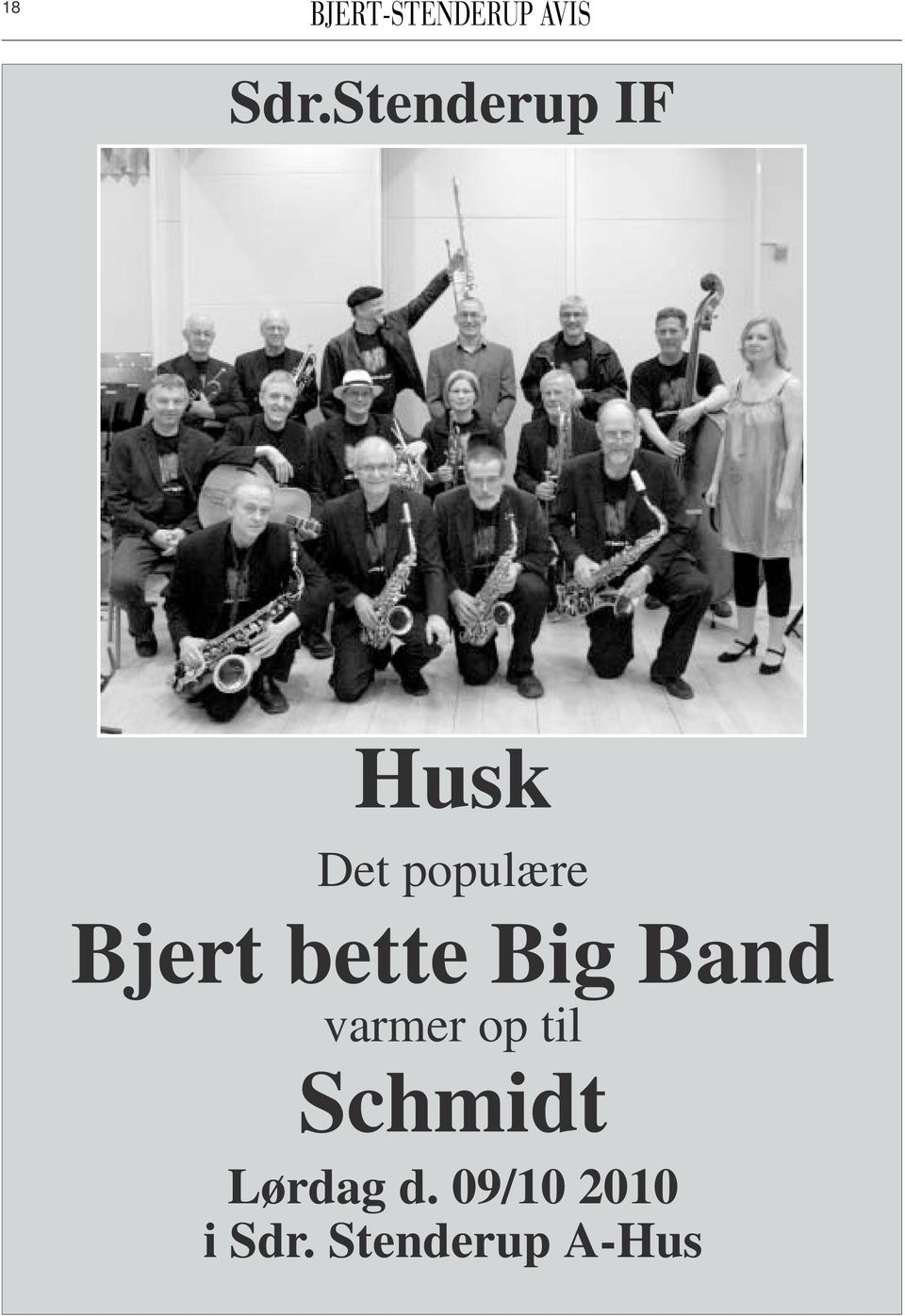 Bjert bette Big Band varmer op
